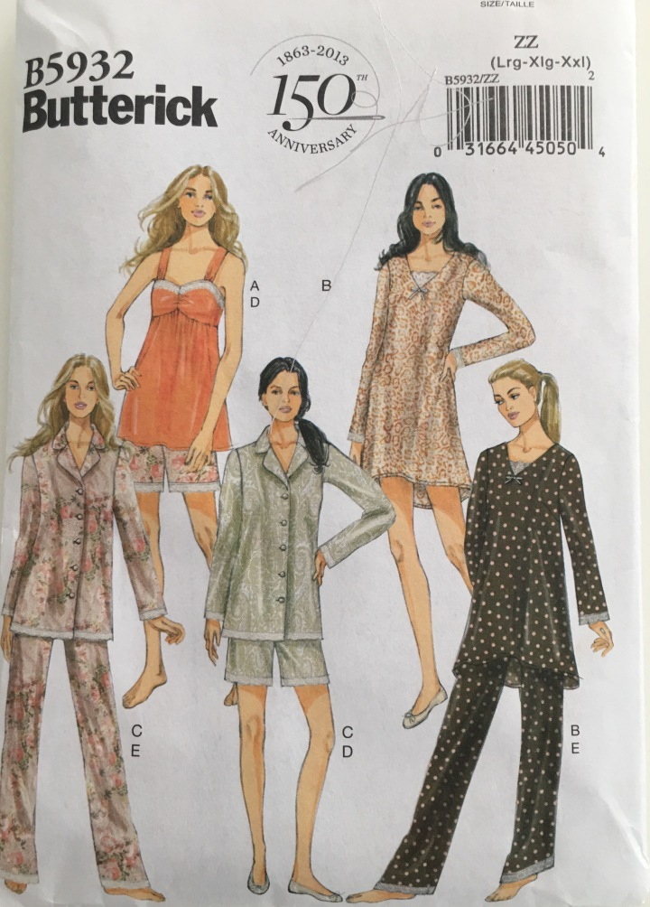 Butterick 5932 ~ Copying expensive sleepwear